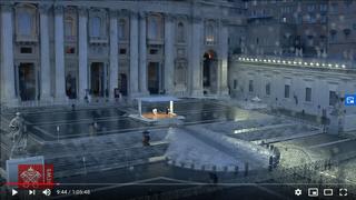 Papa Francisco el 27 de Marzo de 2020